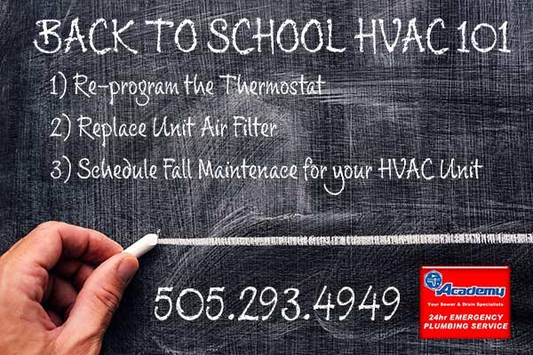 Back to School Basics of HVAC Maintenance